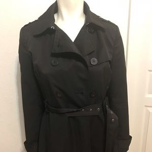 Kenneth Cole Reaction Black Women's Rain Coat  S